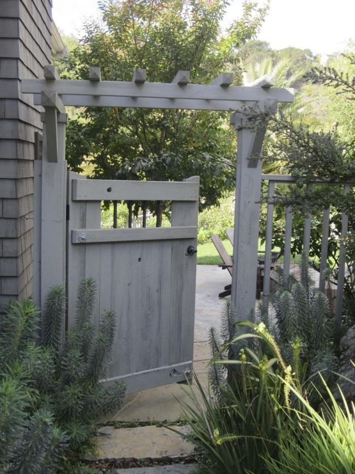Fence Gate · Love The Trellis! Garden Secrets: What A Landscape Architect  Plants At Home Gardenista