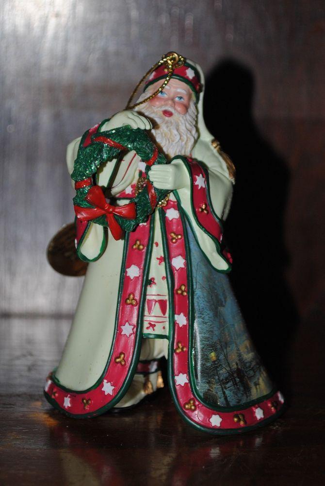 "Thomas Kinkade Old World Santas, ""Christmas Journey's End Santa""  2003"