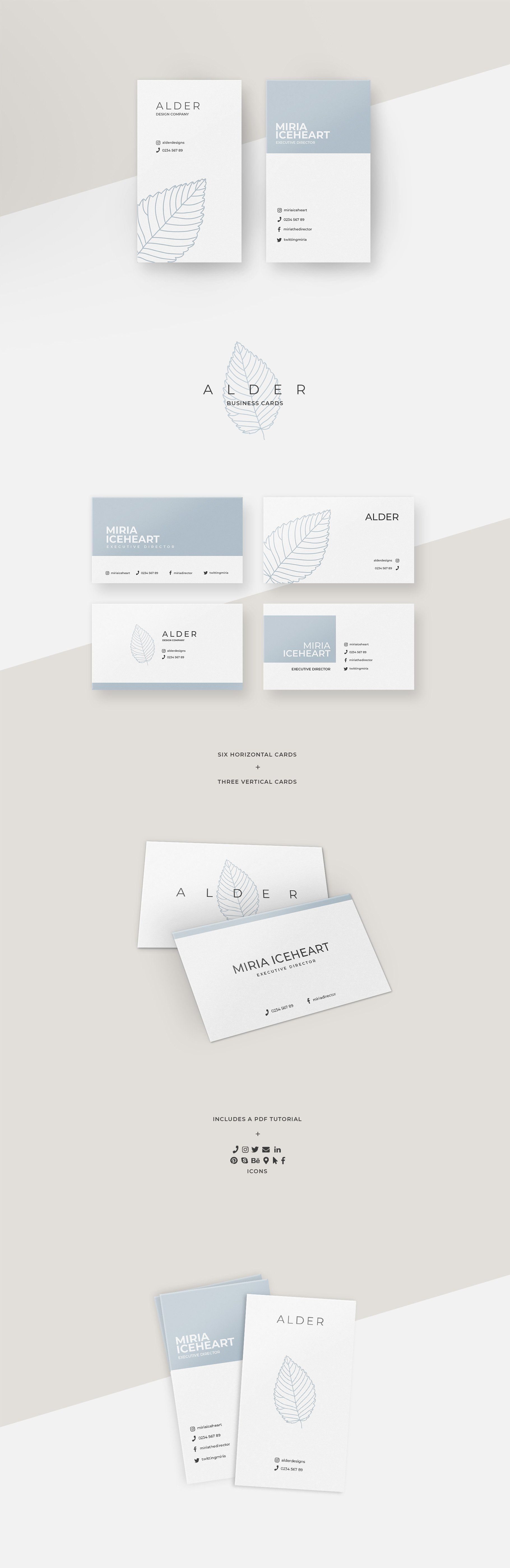 Alder Business Card Templates In 2020 Vertical Business Card Template Business Cards Creative Templates Business Card Inspiration