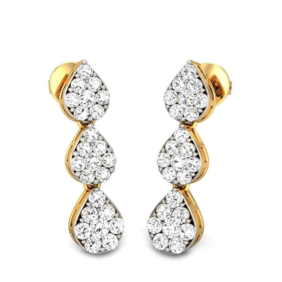 Star drops ziah diamond earrings ziah collection by candere a
