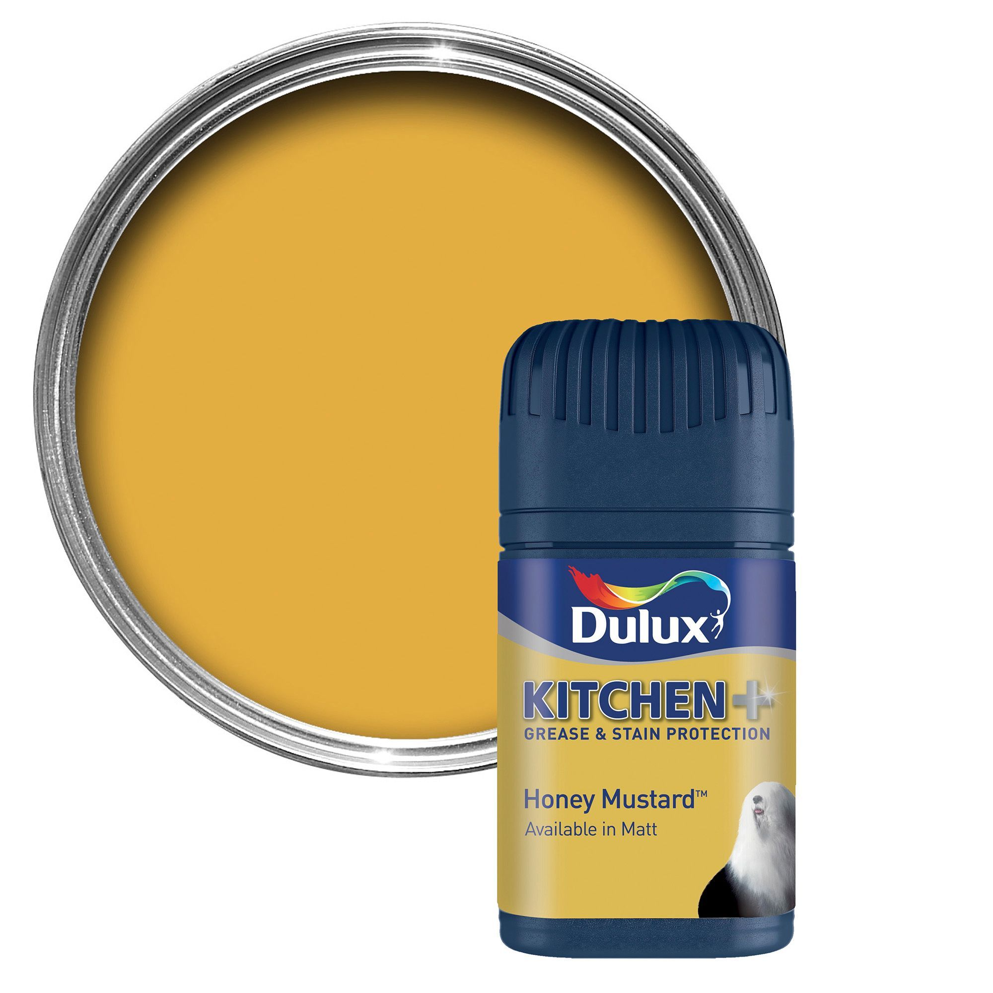 White Kitchen Emulsion dulux kitchen honey mustard matt emulsion paint 50ml tester pot