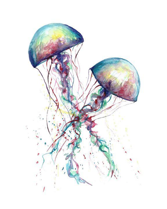 Photo of Jellyfish watercolor – NatalyArt