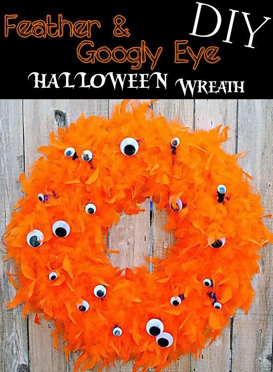 Diy Halloween Wreath With Googly Eyes Halloween Diy Diy