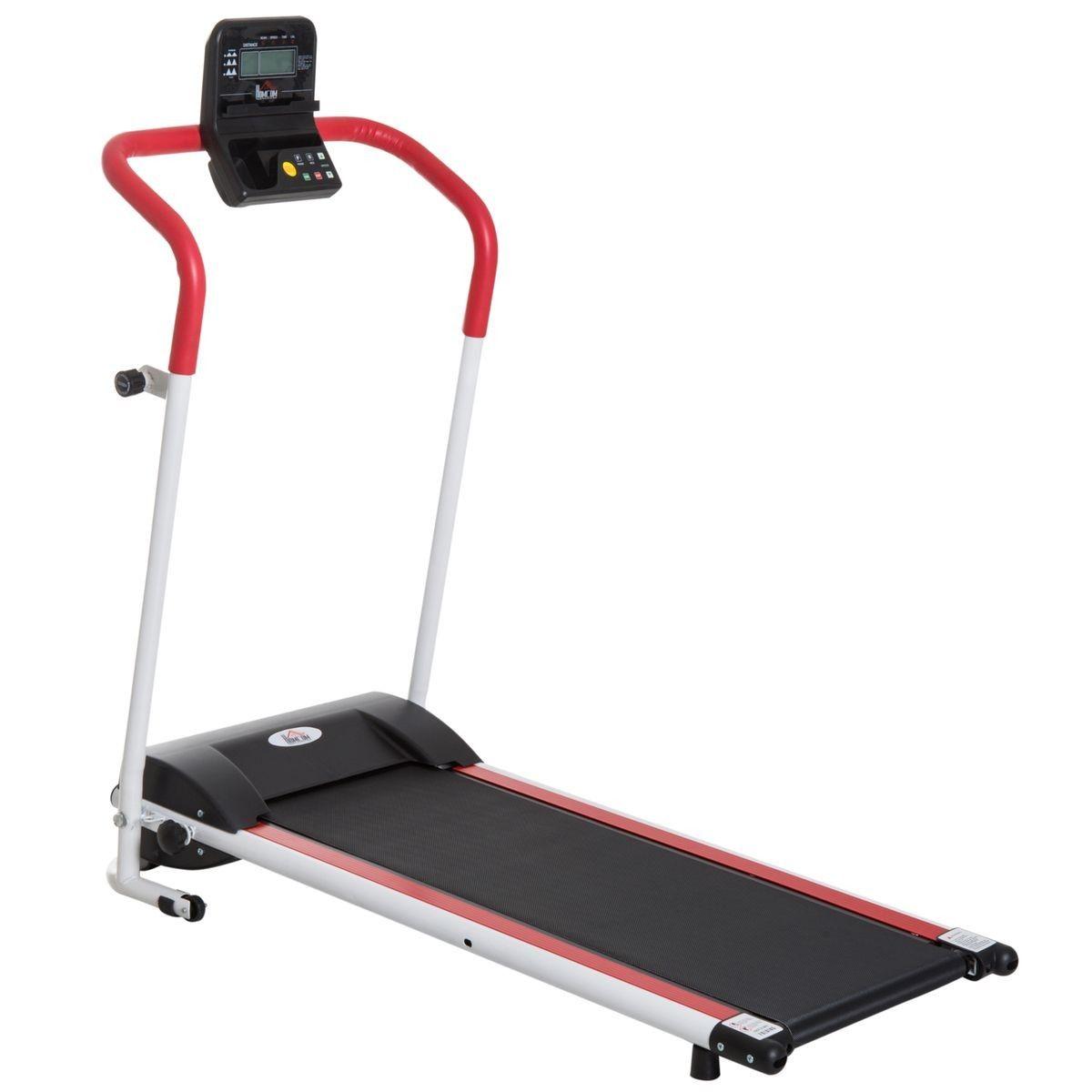 Tapis Roulant Electrique De Course Pliable 1 10 Km H Rouge Appareil Fitness Tapis Roulant Et Plate Forme Vibrante