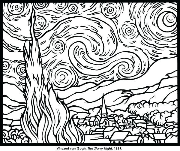 famous artwork coloring pages famous paintings coloring pages famous ...
