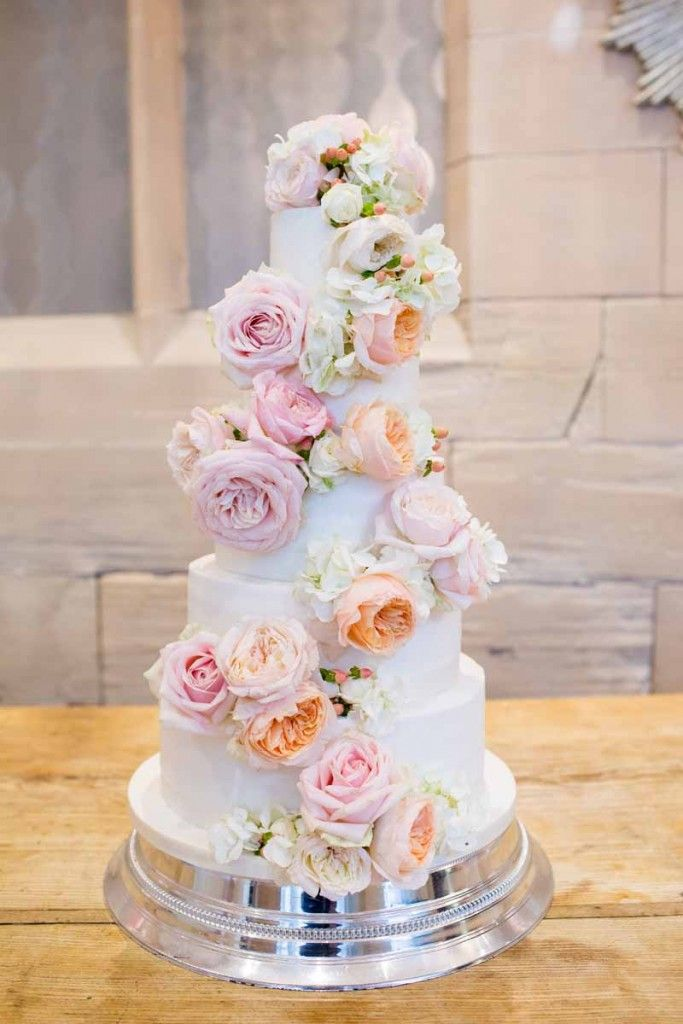 peach wedding cake flowers blush pink roses wedding cake flowers cake 18145