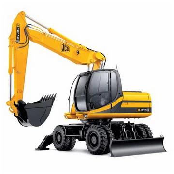 JCB JS130W, JS145W, JS160W, JS175W Wheeled Excavator