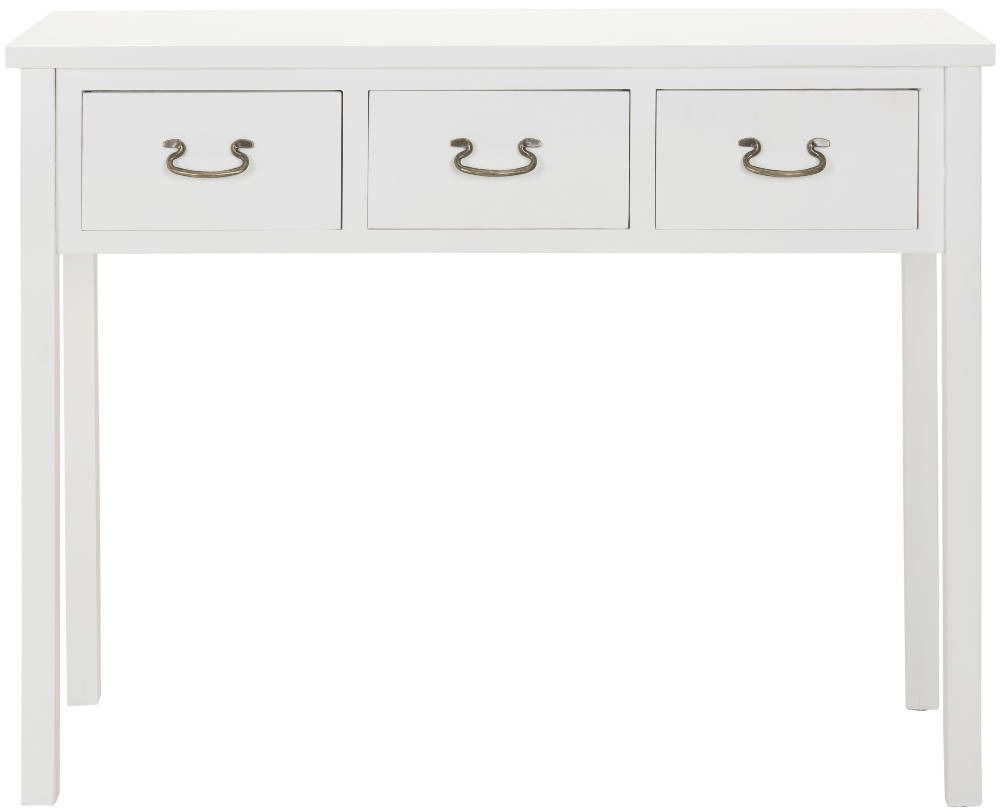 End of hallway storage ideas  Cindy Console u White  Safavieh    domino  Wood
