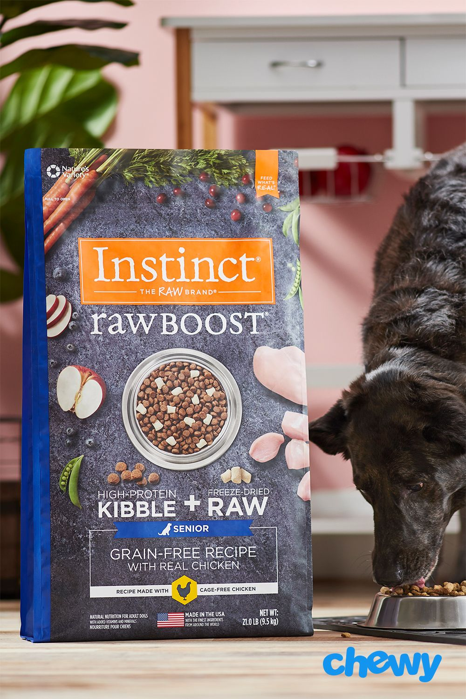 Instinct raw boost senior grainfree recipe with real