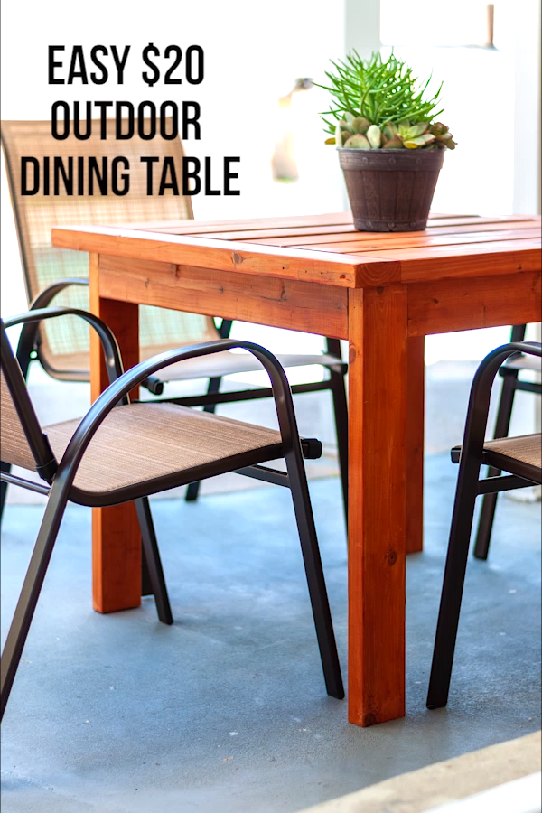 Simple $20 DIY Outdoor Dining Table