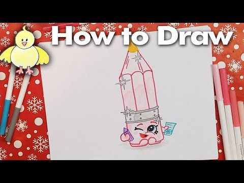 how to draw shopkins penny pencil narrated step by step drawing lesson youtube