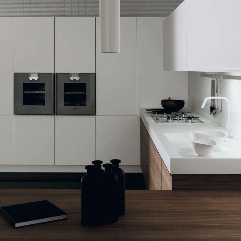 Muebles de cocina minimalistas modelos cusan nogal y - Muebles de nogal ...