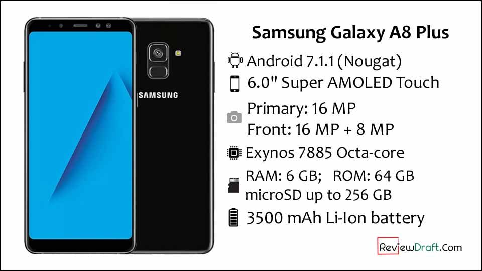 Samsung Galaxy A8 Plus 2018 Price In Bangladesh Full Specification Samsung Galaxy Samsung Latest Phones