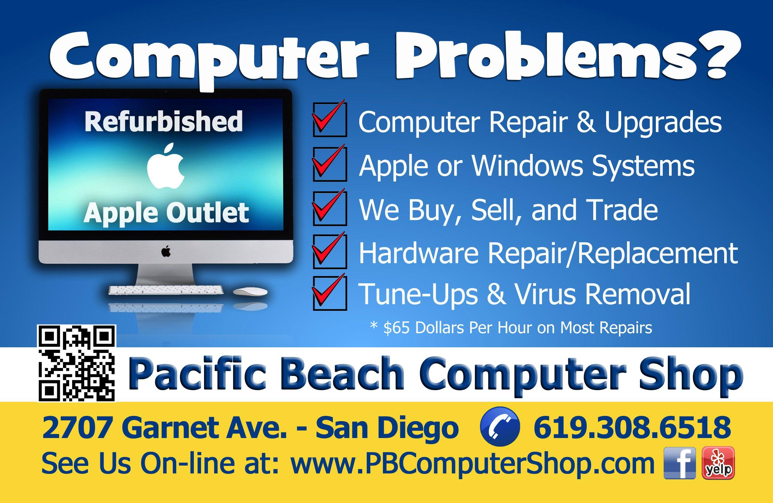 PB Computer Shop Flyer Computer Repair San Diego CA