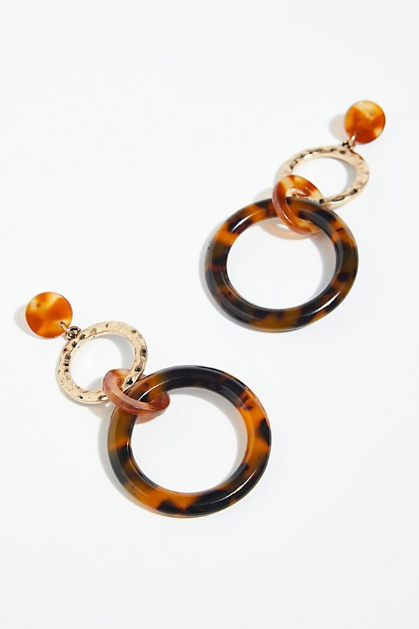 Hazel Resin Hoop Earrings