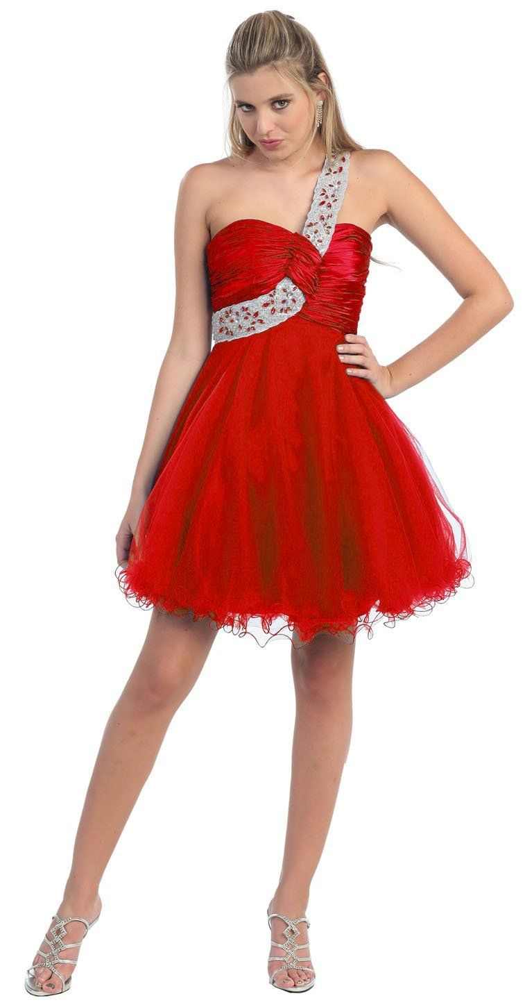 sequin-one-shoulder-junior-formal-dresses- | Formal Dresses For ...