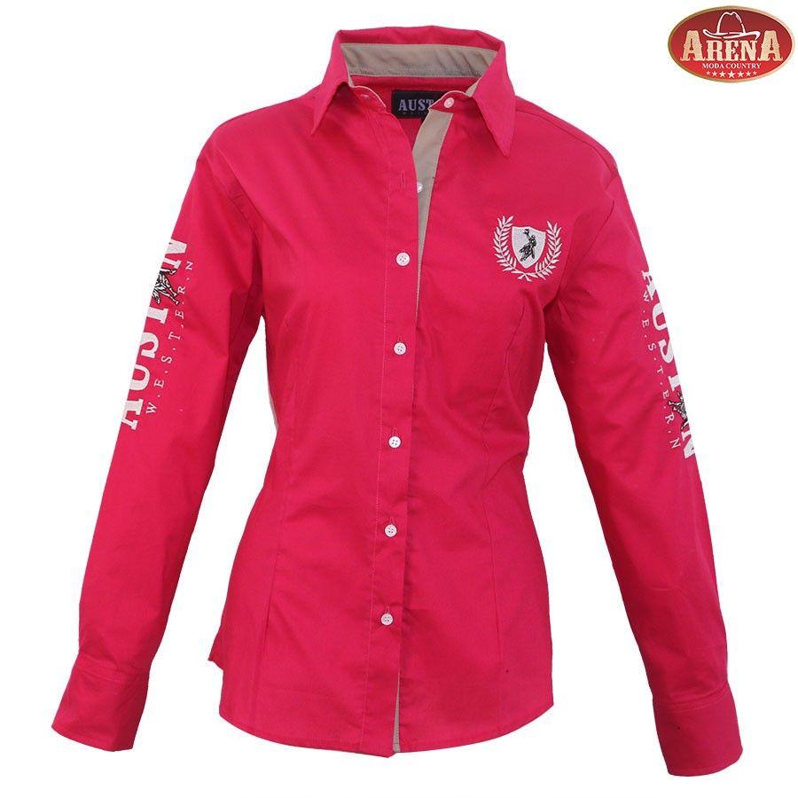 Camisa Feminina Professionals Austin Western Pink  6b2f222720d97