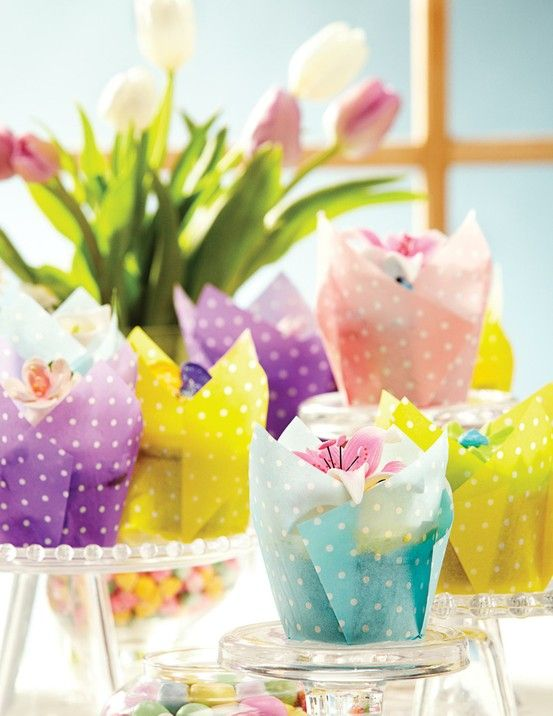 Make Your Easter Cupcakes In These Beautiful Tulip Baking Cups From Hoffmaster Baking Cups Easter Treats Cupcake Wrappers
