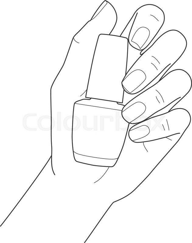 Stock Vector Of Female Hand With Manicure Holding Nail Polish