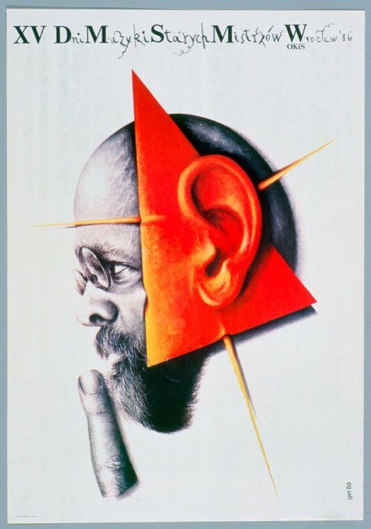 ポーランドのポスター フェイスあるいはマスク   武蔵野美術大学 美術館