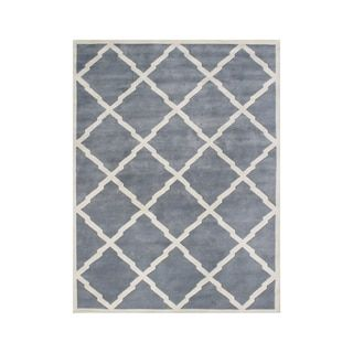 Shop for Alliyah Handmade Bluish Grey New Zealand Blend Wool Rug