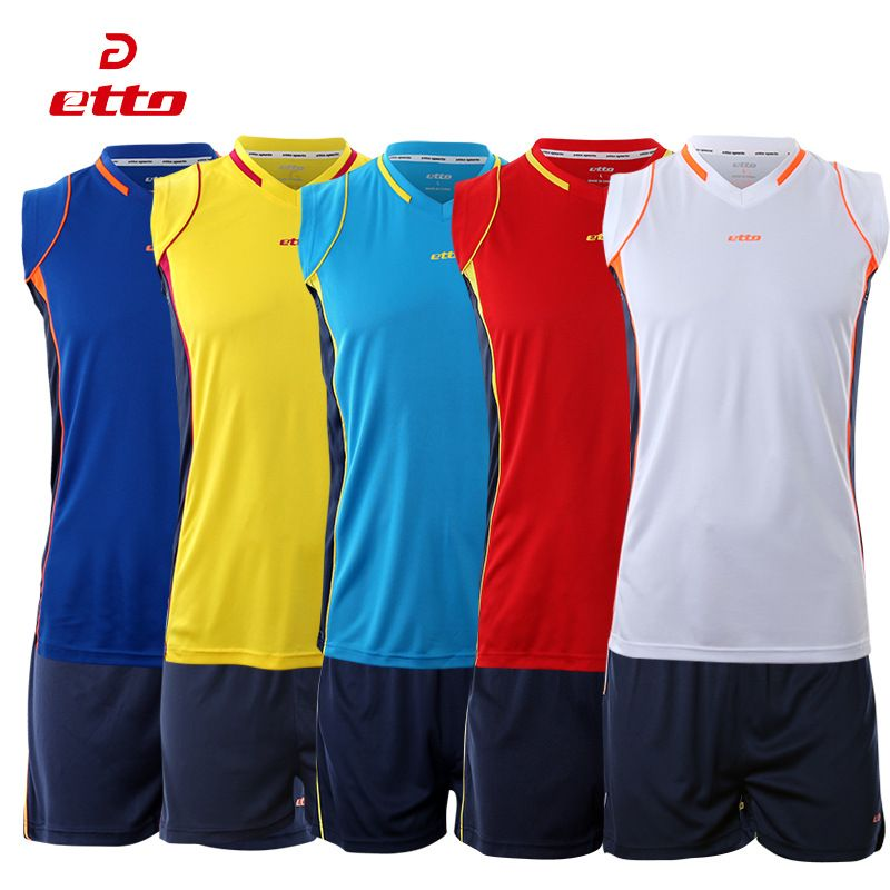 aec97158e8 New Breathable Men Volleyball Jersey Suit Sleeveless Training Clothing  Sport Set Volleyball Uniform Voleibol Jerseys XK-HXB002