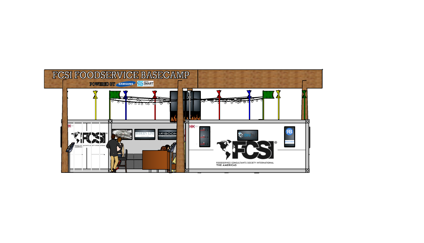 FCSI Container Pavilion Designed by LU S Design Associates