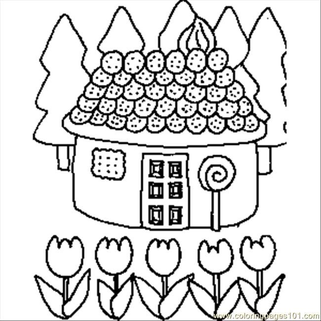 Icolor Gingerbread Houses 650 650 House Colouring Pictures
