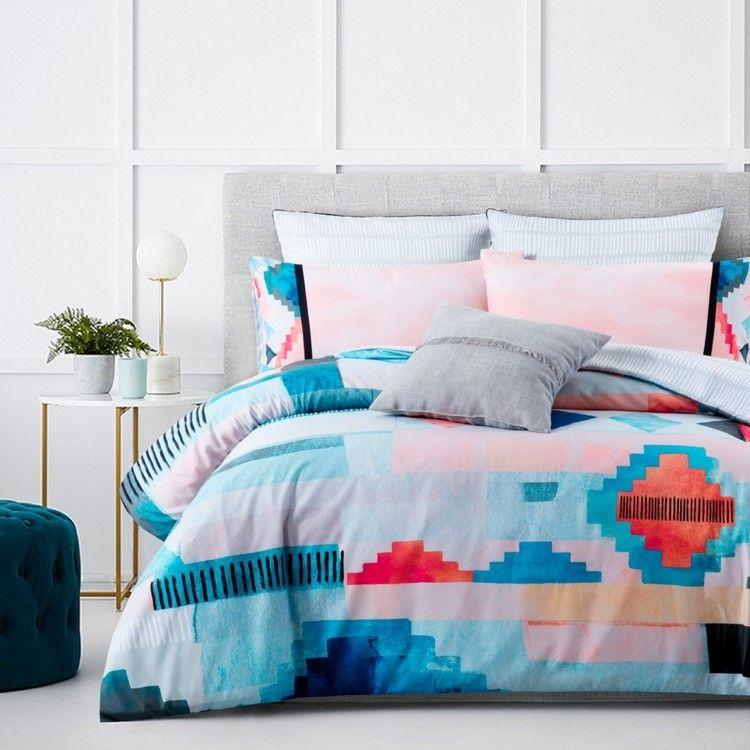 Belmondo Home Ashton Quilt Cover Set Multicoloured Quilt Cover Sets Quilt Cover Single Size Bed