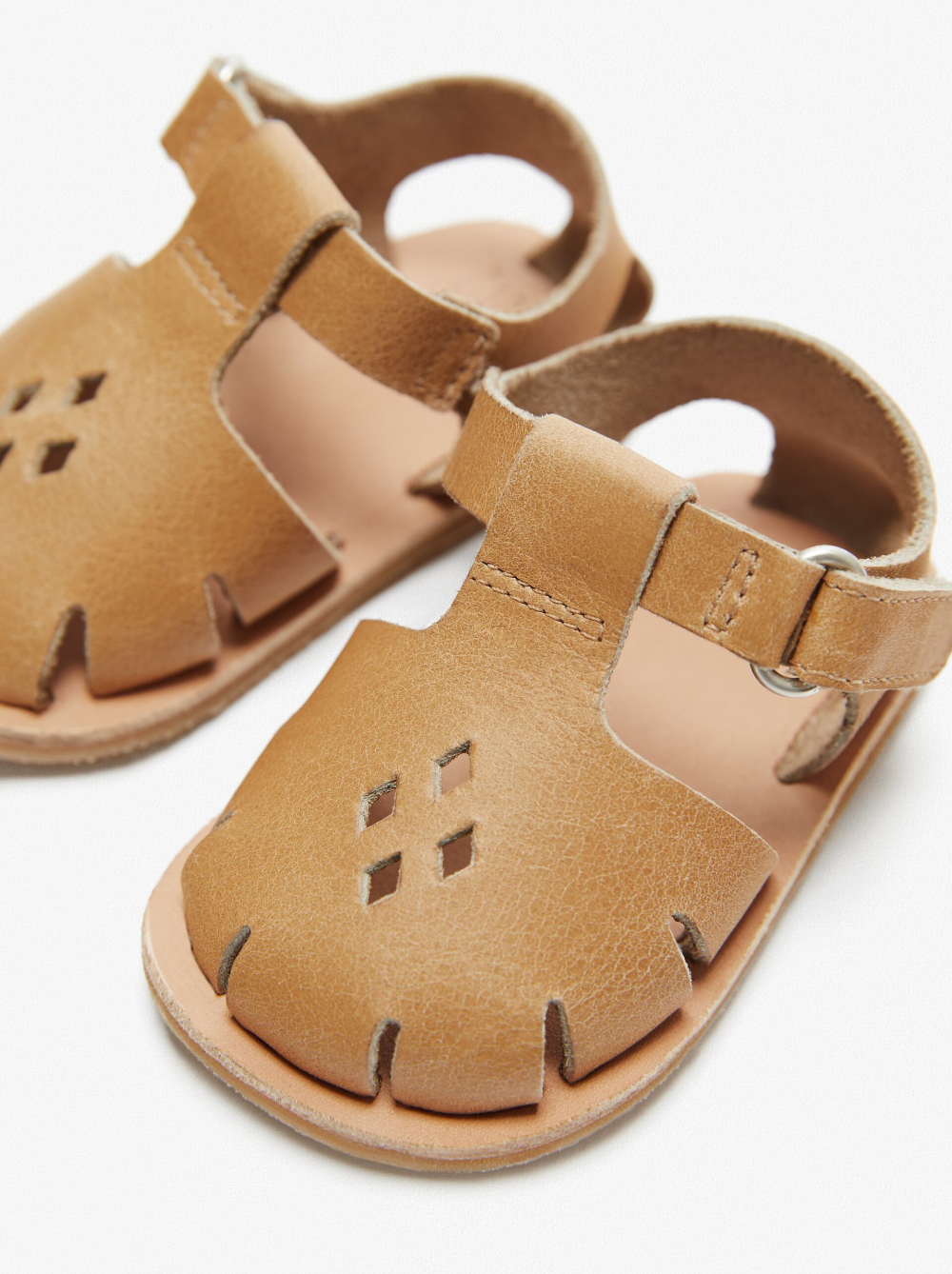 MINI LEATHER FISHERMAN SANDALS