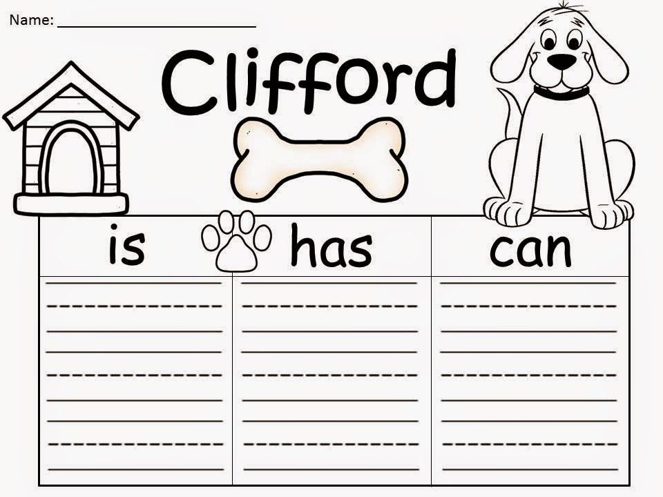 Free Clifford The Big Red Dog By Norman Bridwell Graphic Organizers