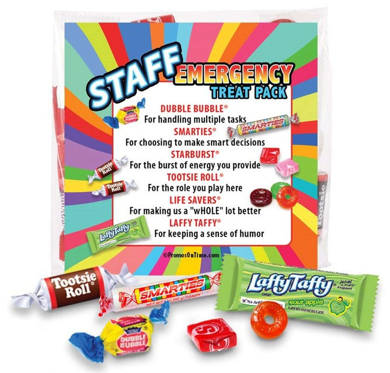 Staff Emergency Treat Pack Survival Kits Employee & Staff
