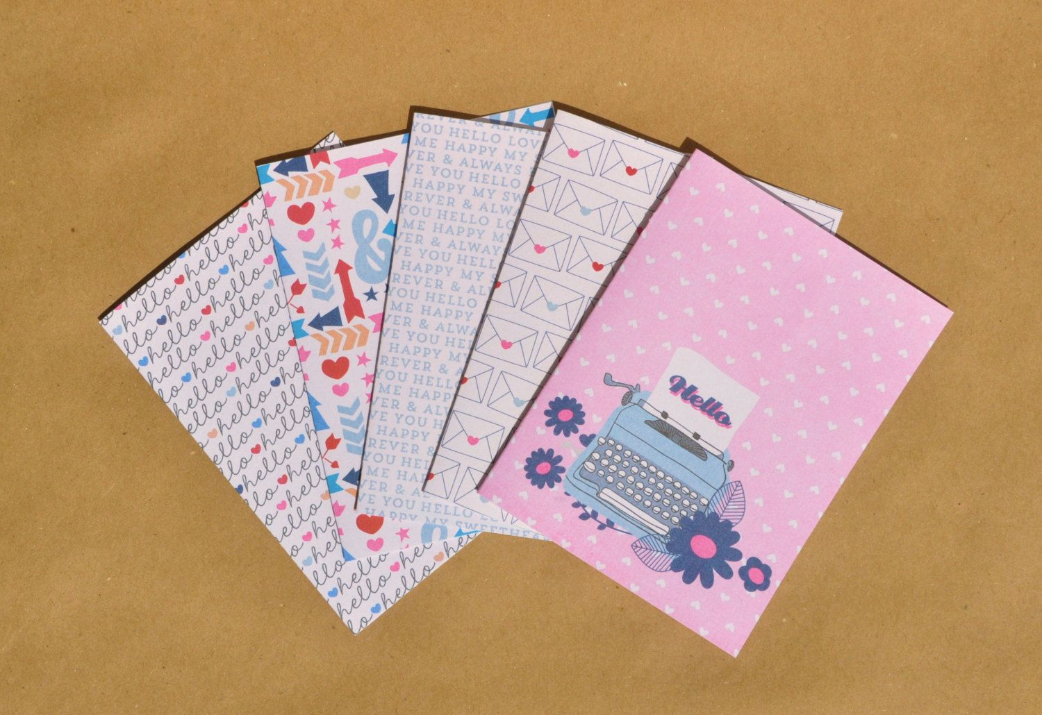 Blank note card set stationery writing themed greeting cards set blank note card set stationery writing themed greeting cards set of 5 greeting cards stationery set cute greeting card set m4hsunfo