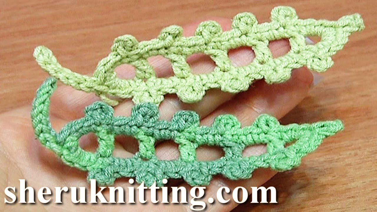 Pin by kaine lus on crochet pinterest crochet leaves crochet crochet leaf long picots around tutorial 23 see this crochet tutorial bankloansurffo Images