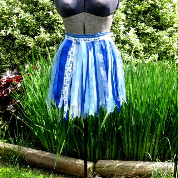 Blue Ribbon Skirt Tutu by playnwithbeads on Etsy, $20.00  #ribbonskirt  #ribbontutu