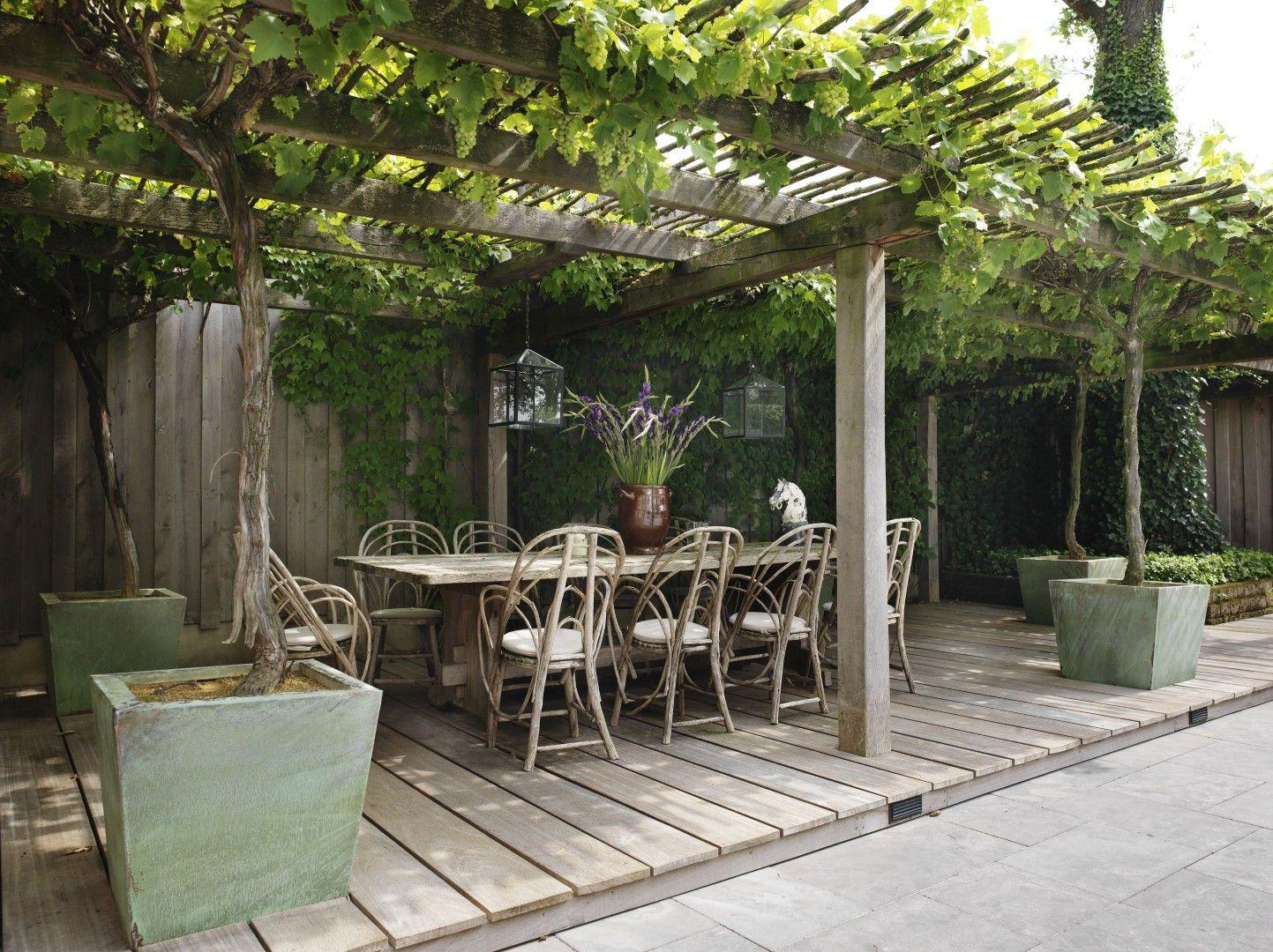 Overdekt terras tuin deck steps decking and pergolas