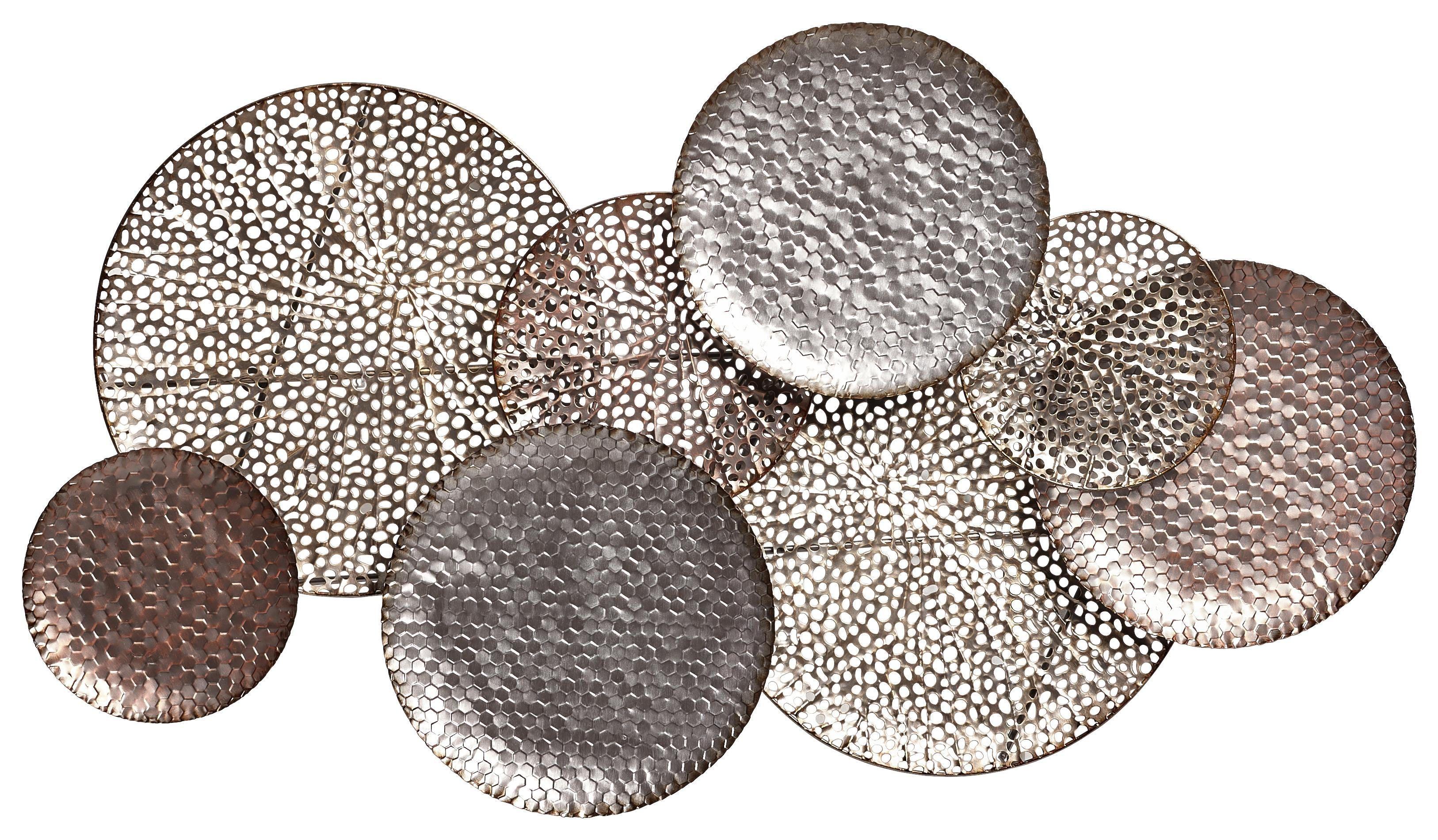 wanddeko metall wand dekorieren mondphasen deko