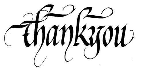 Say Thank you by Calligraphy Style fonts | Calligraphy | Pinterest