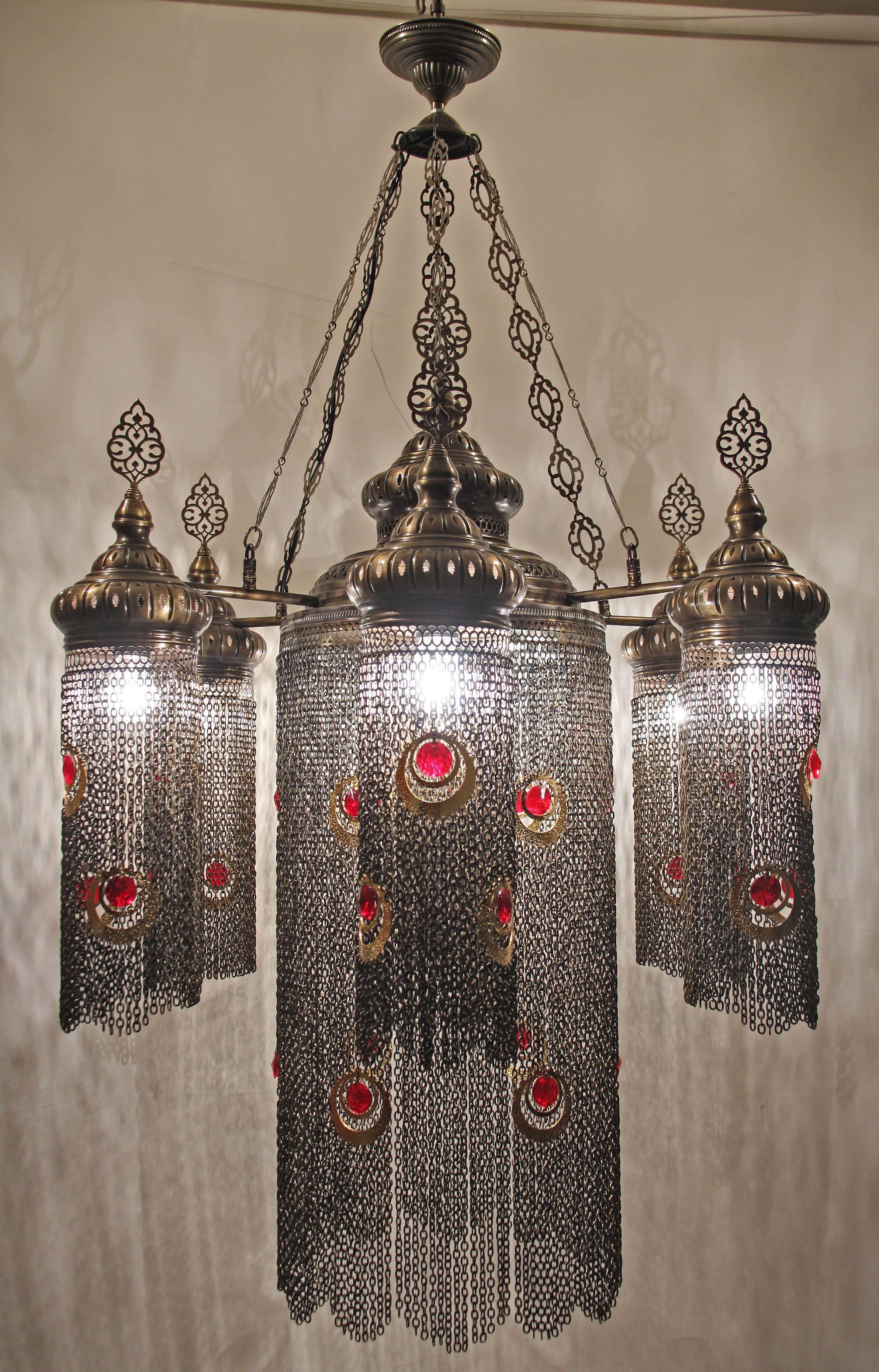 large ottoman chain chandelier 6 lamps ottoman lamps chandeliers