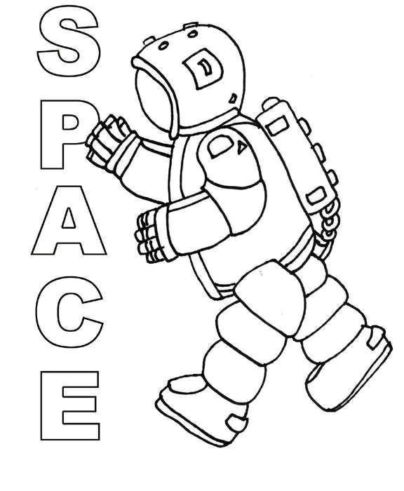 astronaut grabbing a star coloring page free printable - 576×700