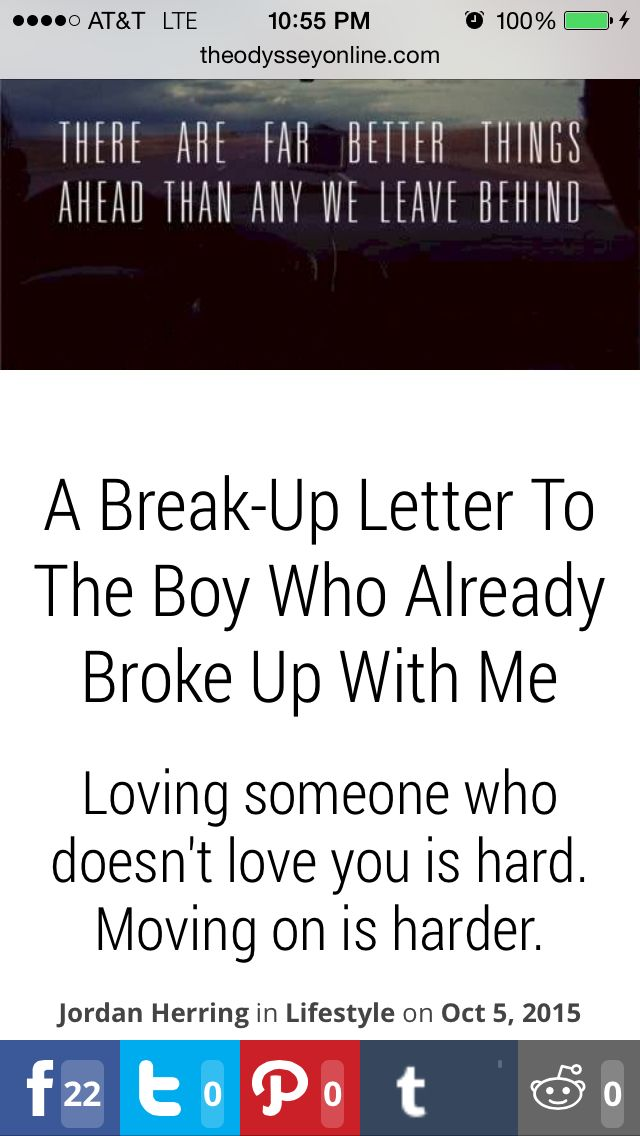 A Break-Up Letter To The Boy Who Already Broke Up With Me | Letters
