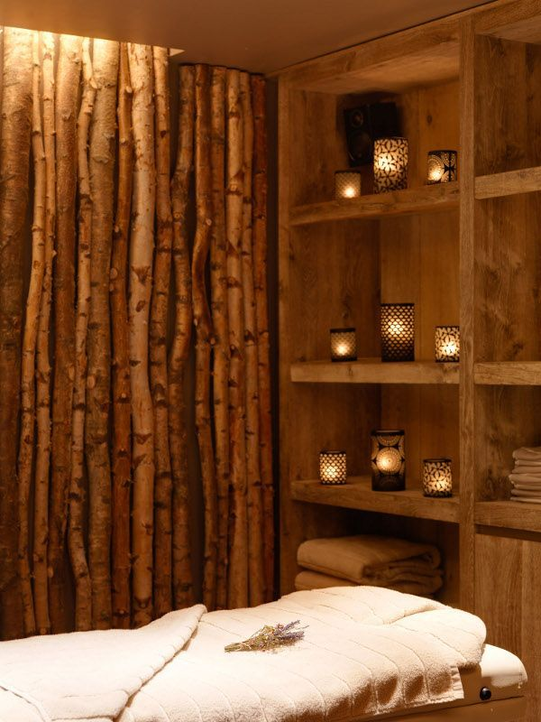 Massage Therapy Room Design Ideas: Fallen-wood Feature Wall In 2019