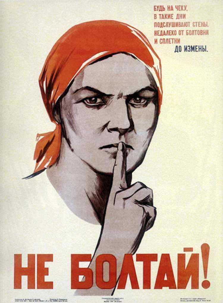 Image result for russian shush poster
