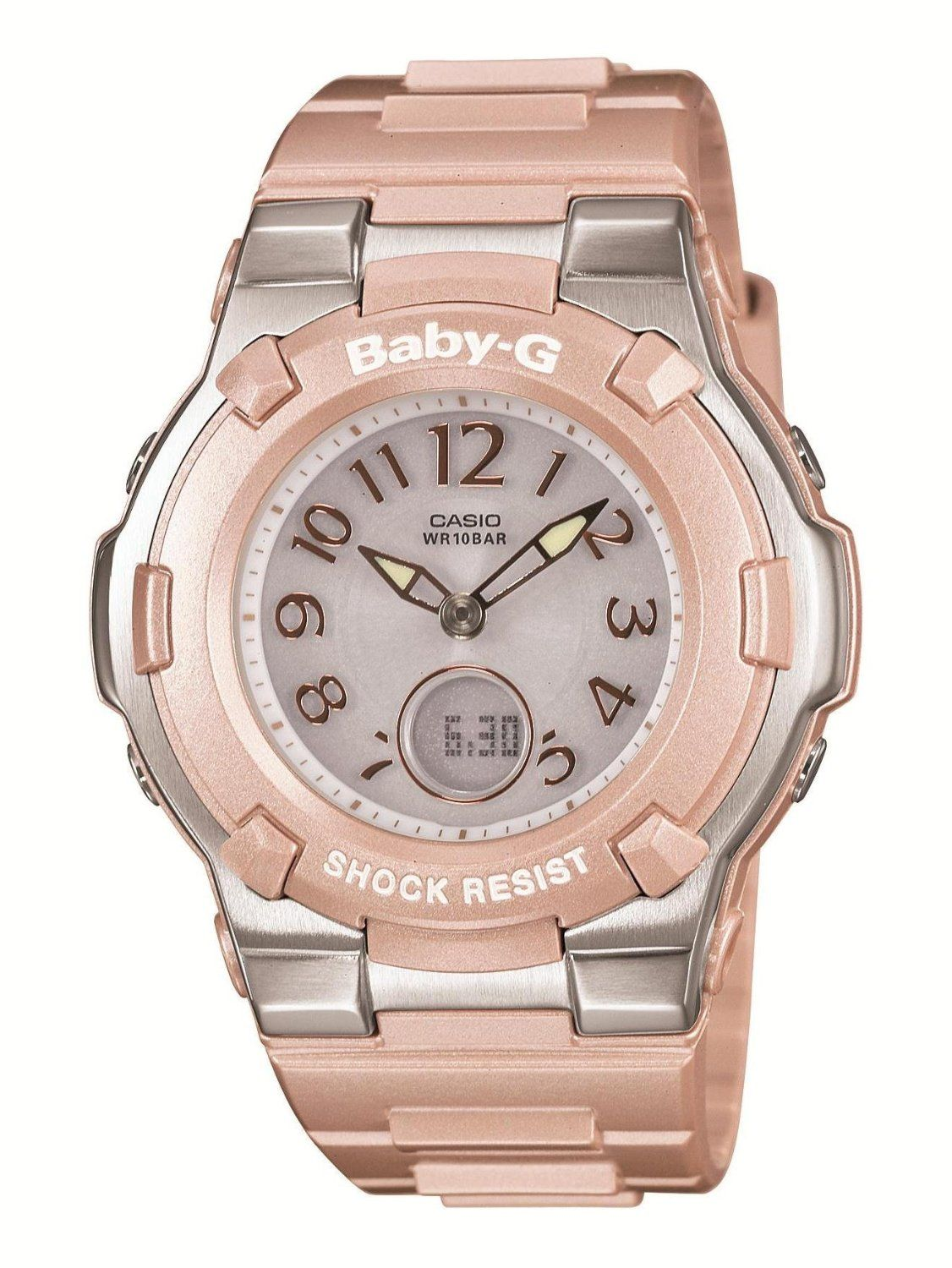 casio baby g shock resist lady 39 s solar charged watch. Black Bedroom Furniture Sets. Home Design Ideas