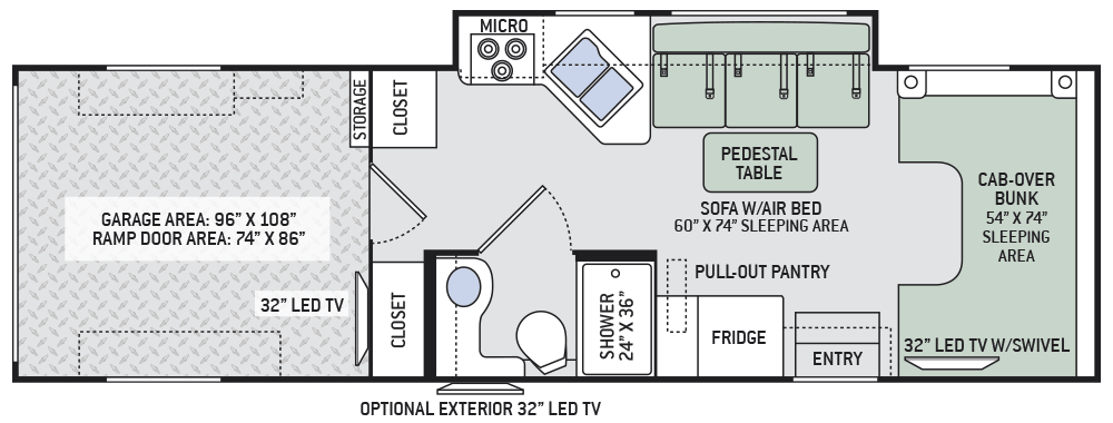 2016 Outlaw Class C 29h Toy Haulers Rving Floor Plans
