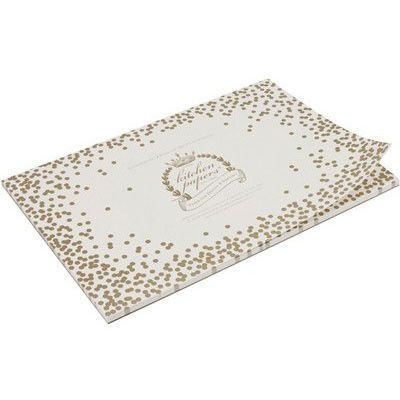 Confetti Paper Placemats Pad Gold Dots Now Available At Write Impressions 11 14 Placemats Stylish Home Decor Paper