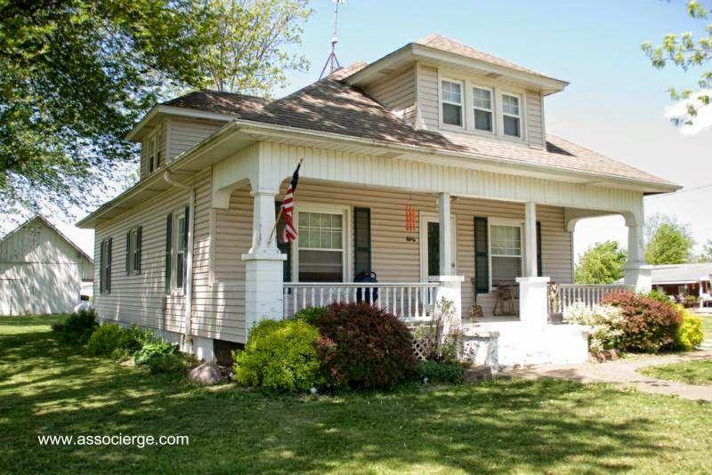 Modelo de casa americana tipo foursquare casas y for Casas americanas fachadas