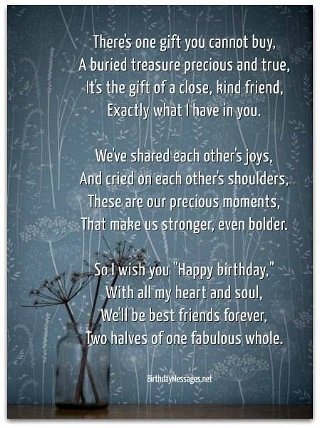 Sentimental Birthday Poems