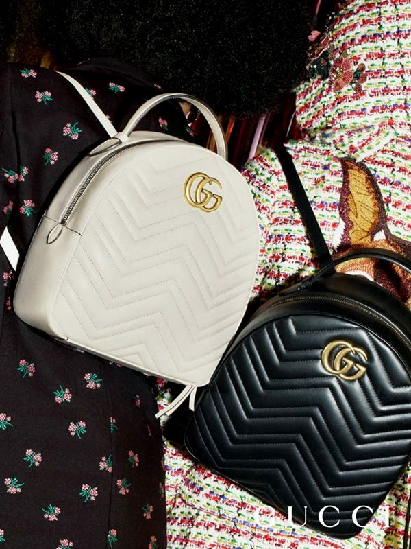 1e8b1557f72 GG Marmont quilted  leather backpacks from the Gucci Pre-Fall 2017  collection by Alessandro