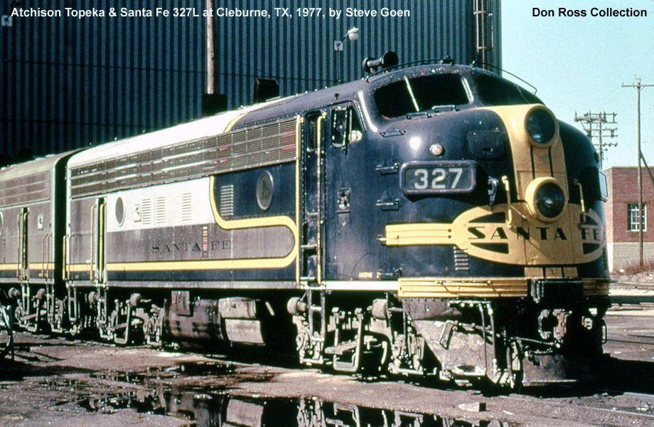 Santa Fe Blue Bonnet B Unit Train Tracks Train Railroad Photography